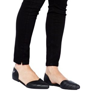 Melissa Petal Black Jelly waterproof Flats Pointy6